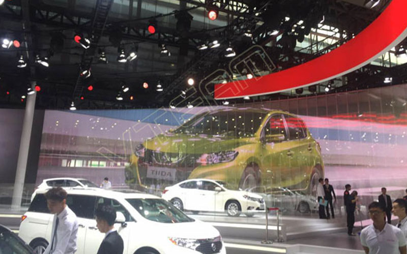 China Guangzhou Auto Show Curved LED transparent screen